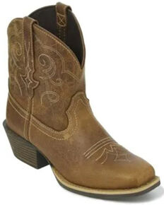 Justin Women's Chellie Western Booties - Square Toe, Tan, hi-res