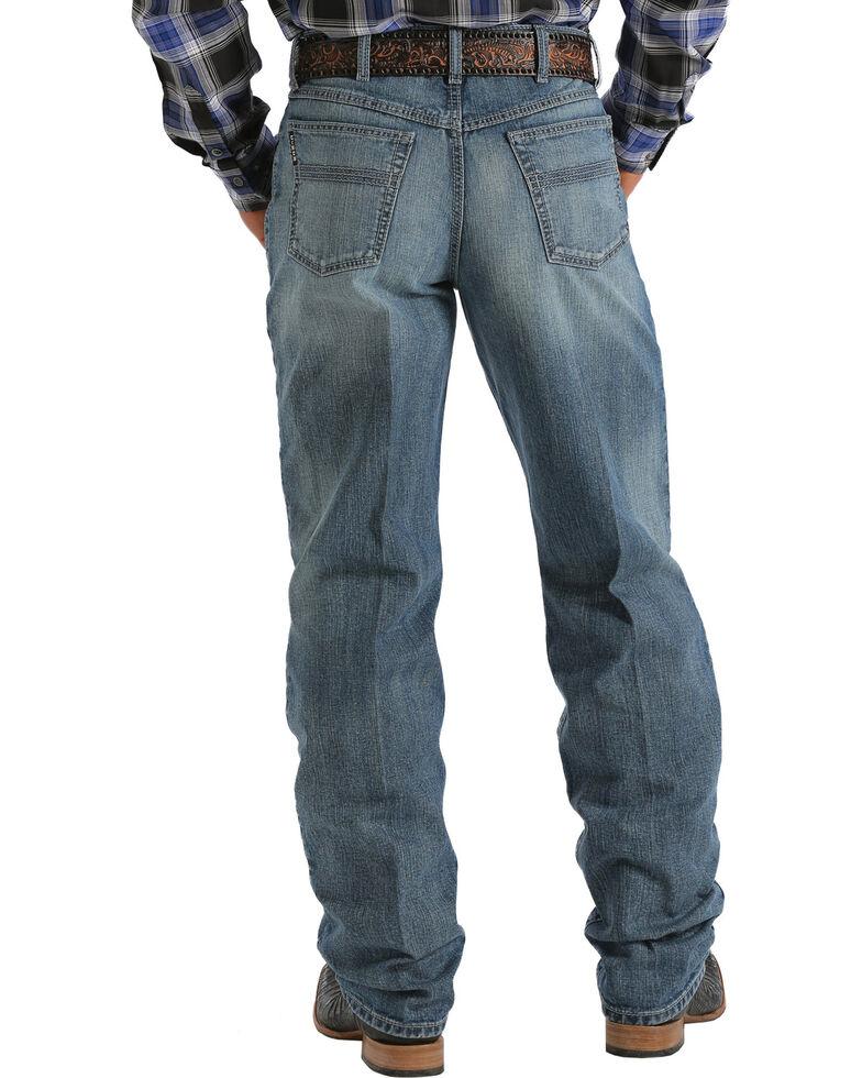 Cinch Men's Black Label Medium Wash Jeans - Big & Tall, Med Stone, hi-res