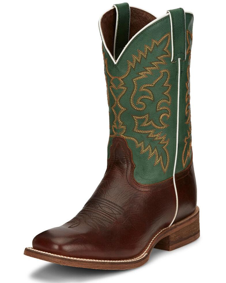 Nocona Men's Davis Honey Western Boots - Square Toe, Brown, hi-res