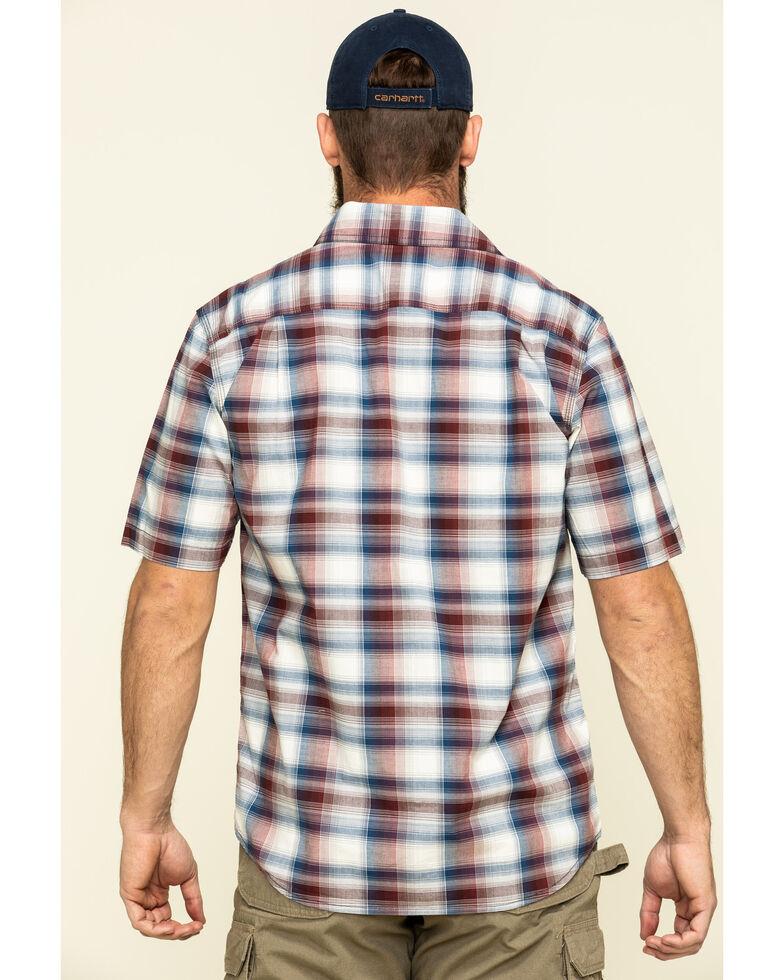 Carhartt Men's Red Rugged Flex Bozeman Plaid Short Sleeve Work Shirt , Red, hi-res