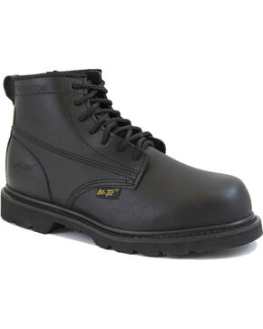 "Ad Tec Men's 6"" Lace Up Uniform Boots - Comp Toe, Black, hi-res"