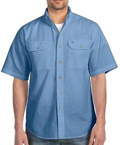 Carhartt Fort Short Sleeve Work Shirt - Big & Tall, Chambray, hi-res