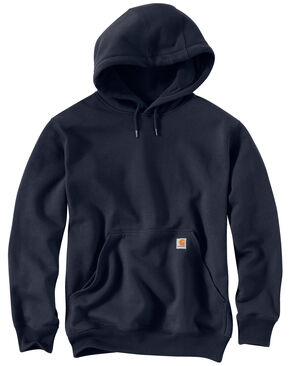 Carhartt Rain Defender Paxton Heavyweight Hooded Sweatshirt, Navy, hi-res