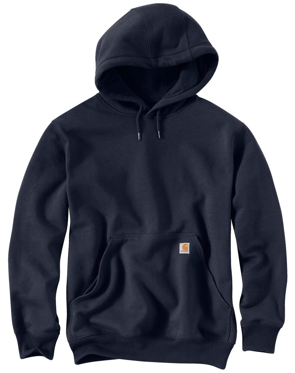Carhartt Rain Defender Paxton Heavyweight Hooded Sweatshirt, Navy, hi-res