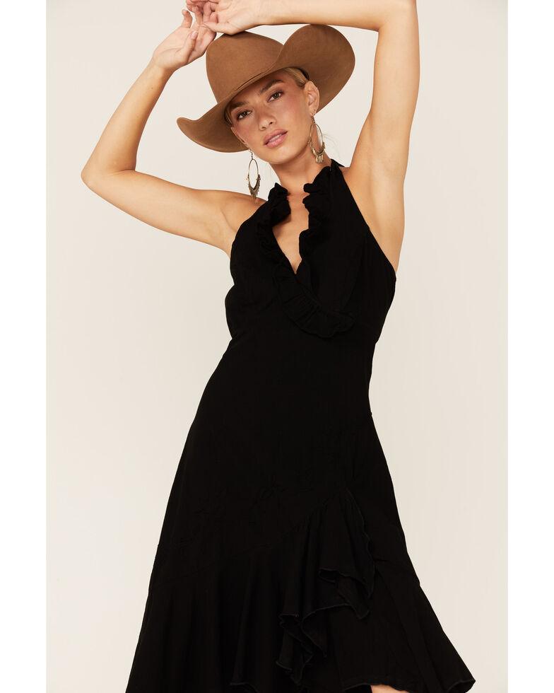 Scully Peruvian Cotton Halter Dress, Black, hi-res