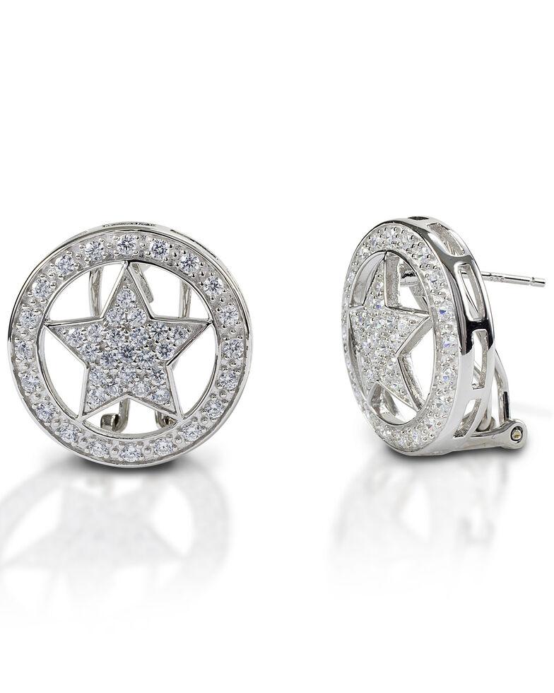 Kelly Herd Women's Large Star Earrings , Silver, hi-res