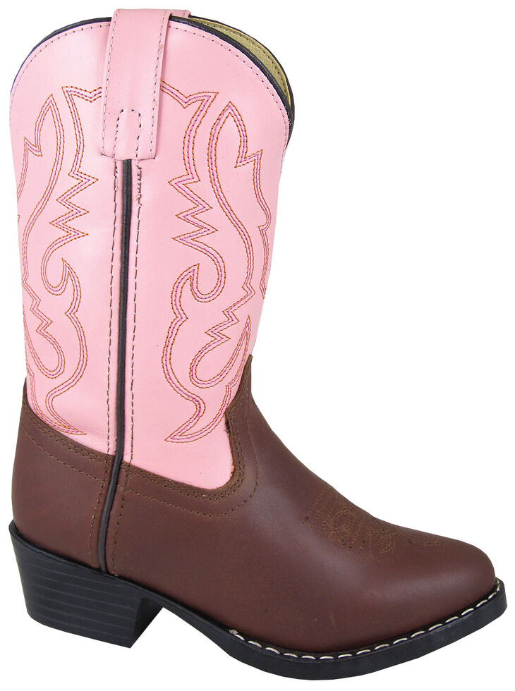 Smoky Mountain Girls' Denver Western Boots - Round Toe, Brown, hi-res