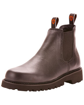 Ariat Men's Rugged West Spot Hog Boots - Round Toe, Black, hi-res