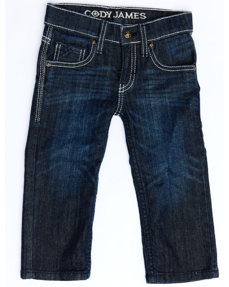 Cody James Toddler Boys' Night Hawk Stretch Relaxed Bootcut Jeans , Blue, hi-res