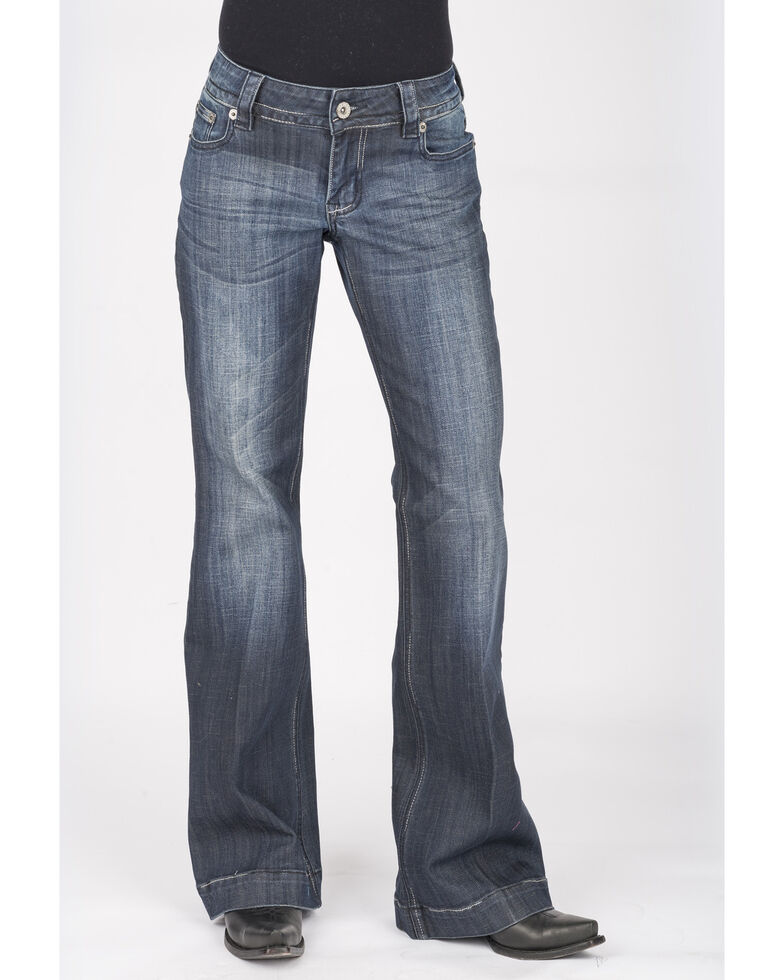 Stetson Women's Dark 214 Trouser Fit Jeans, Blue, hi-res