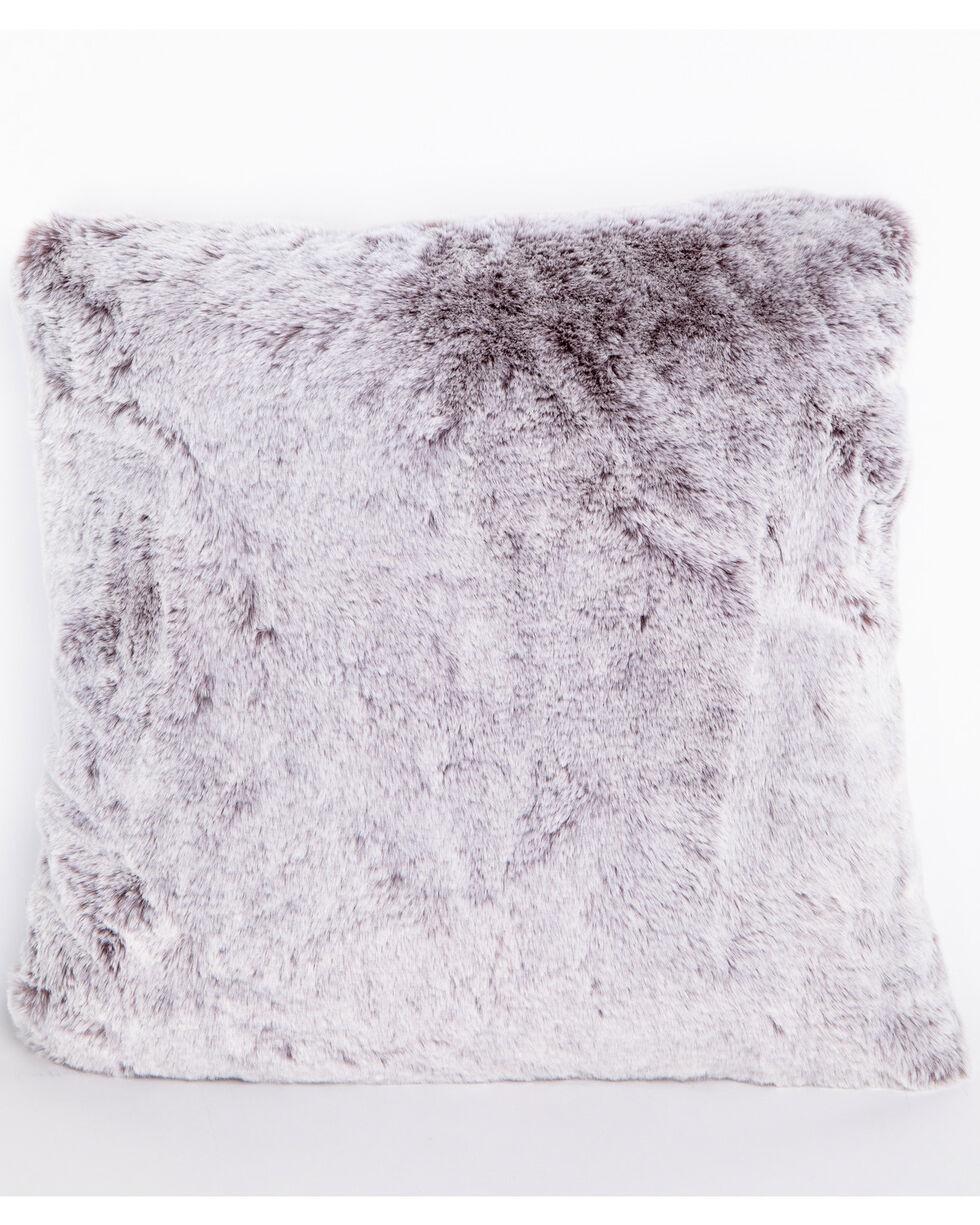 BB Ranch Grey Faux Fur Pillow, Grey, hi-res