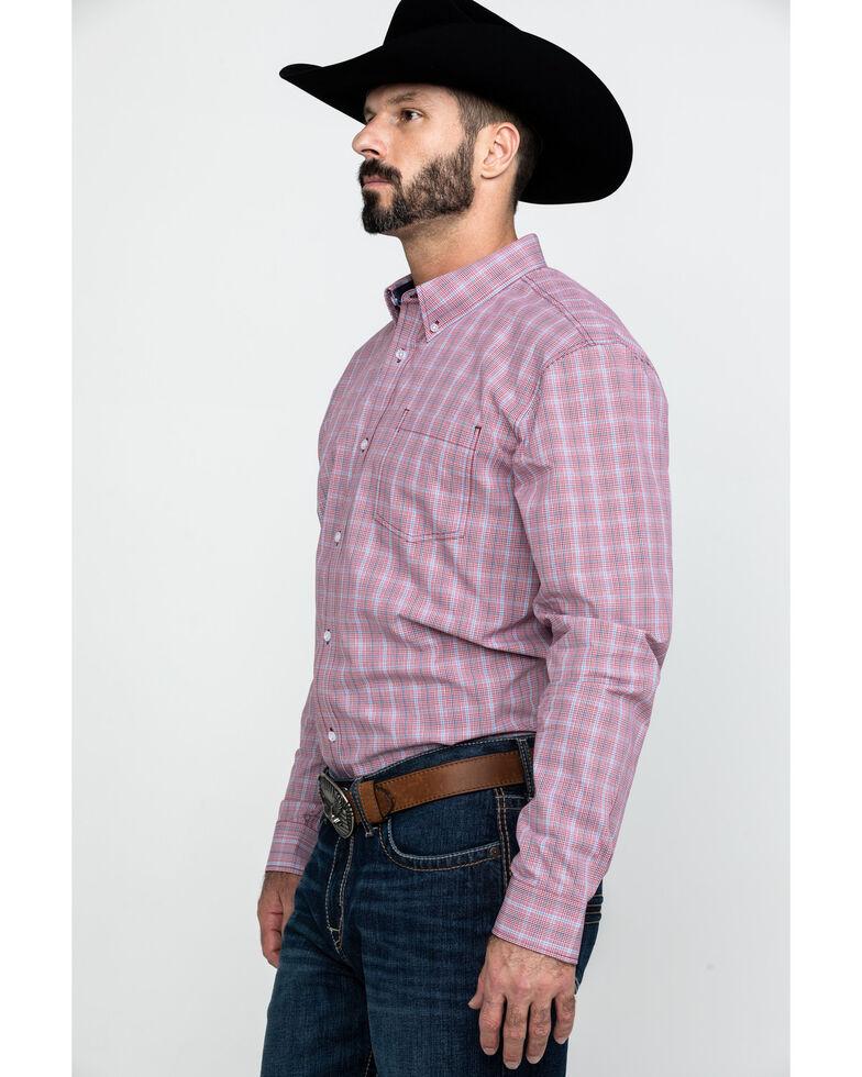 Cody James Core Men's Picnic Small Plaid Long Sleeve Western Shirt - Tall , Red, hi-res