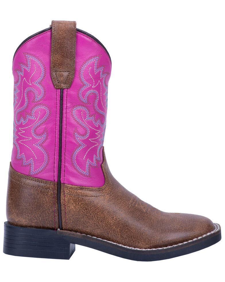 "Dan Post Girls' 9"" Punky Western Boots - Wide Square Toe, Tan, hi-res"