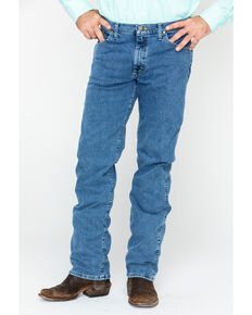 George Strait By Wrangler Men's Regular Fit Boot Cut Jeans, Blue, hi-res