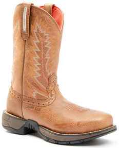 Hawx Women's Drifting Western Work Boots - Composite Toe, Brown, hi-res