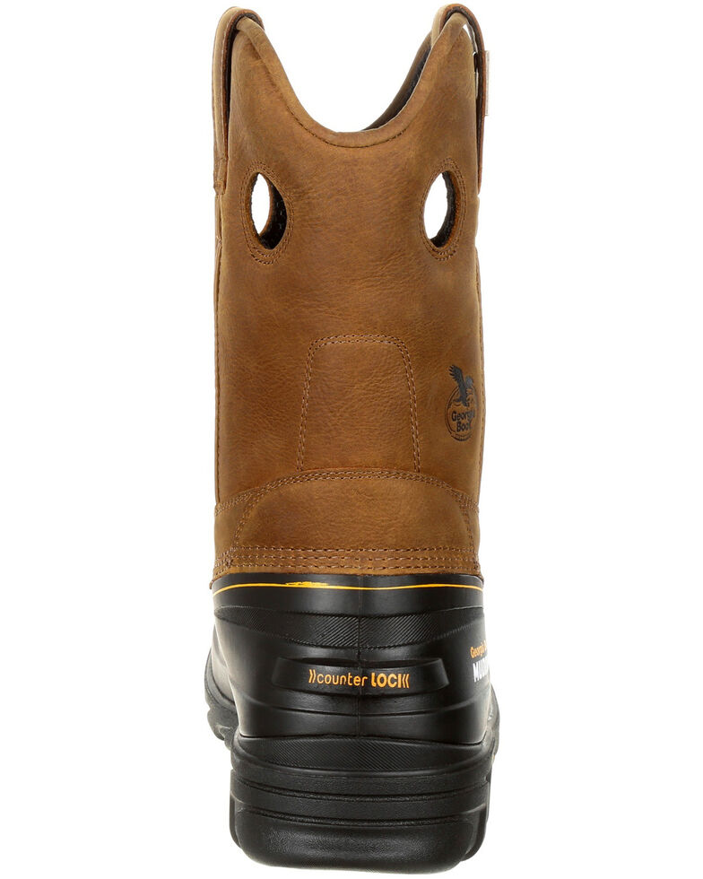 Georgia Boot Men's Muddog Waterproof Work Boots - Composite Toe, Gold, hi-res