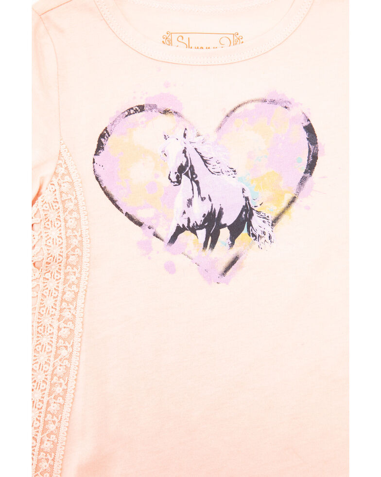 Shyanne Toddler Girls' Dream Horse Knit Top, Blush, hi-res