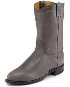Justin Men's Brock Grey Western Boots - Medium Toe, Grey, hi-res