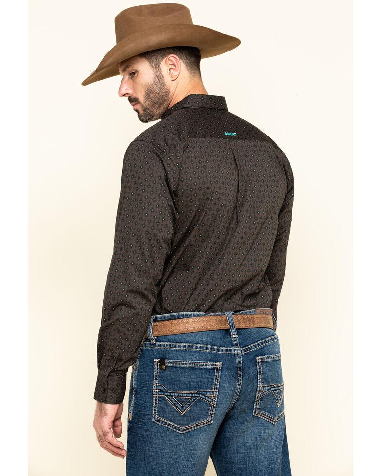 Ariat Men's Orinda Stretch Aztec Geo Print Fitted Long Sleeve Western Shirt , Grey, hi-res