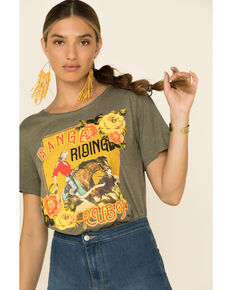 Rodeo Quincy Women's Range Riding Ruby Graphic Tee , Olive, hi-res