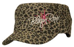 Blazin Roxx Leopard Print Logo Embroidered Cap, Green, hi-res
