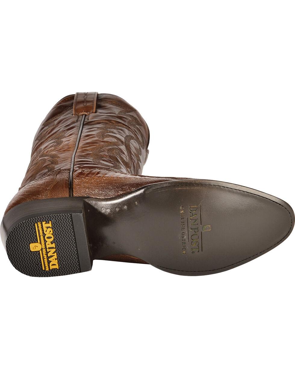 Dan Post Ostrich Leg Boots - Medium Toe, Antique Tan, hi-res