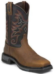 Tony Lama Walnut Tacoma TLX Western Work Boots - Composite Toe , Walnut, hi-res