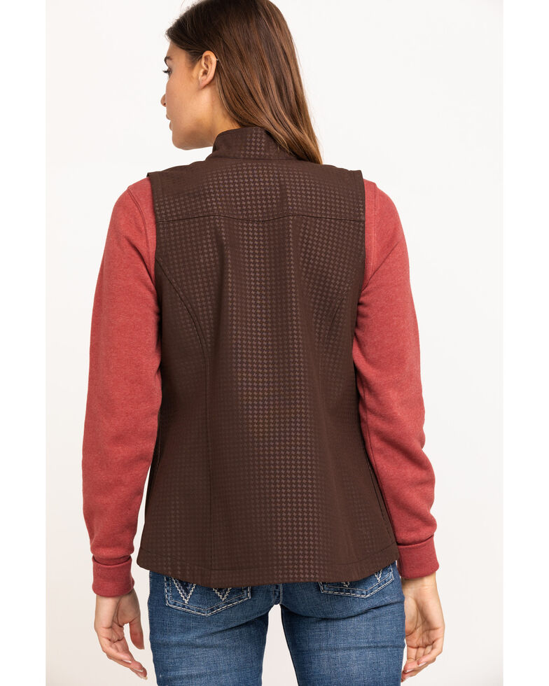 Shyanne Life Women's Brown Softshell Vest, Dark Brown, hi-res