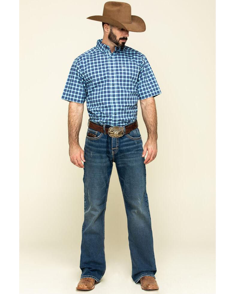 Ariat Men's Multi Stonegate Plaid Long Sleeve Western Shirt - Tall , Multi, hi-res