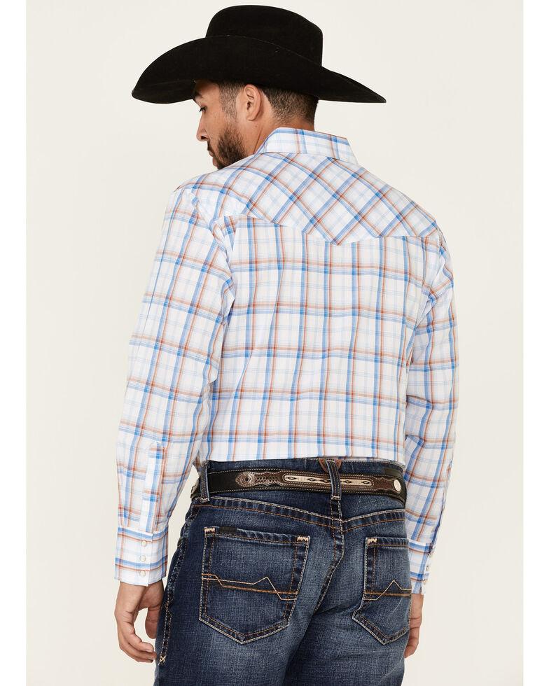 Ely Walker Men's Assorted Large Plaid Long Sleeve Snap Western Shirt , White, hi-res