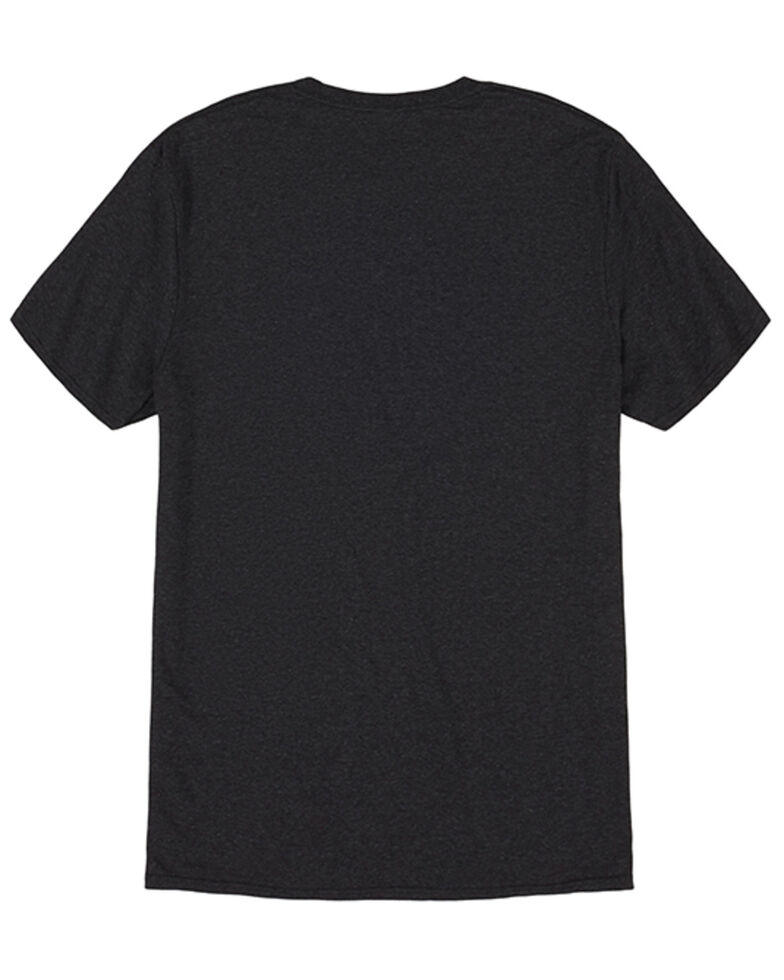 Wrangler Men's Heather Black Spotted Logo Short Sleeve T-Shirt , Black, hi-res
