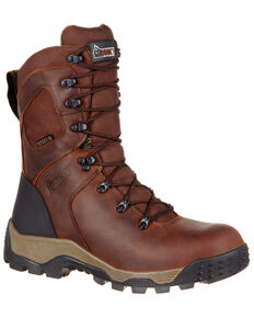 Rocky Men's Sport Pro Waterproof Outdoor Boots - Round Toe, Dark Brown, hi-res