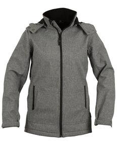STS Ranchwear Women's Grey Barrier Softshell Hooded Jacket, Light Grey, hi-res