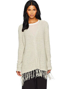 Jack Women's Ley Fringe Trim Cardigan , Grey, hi-res