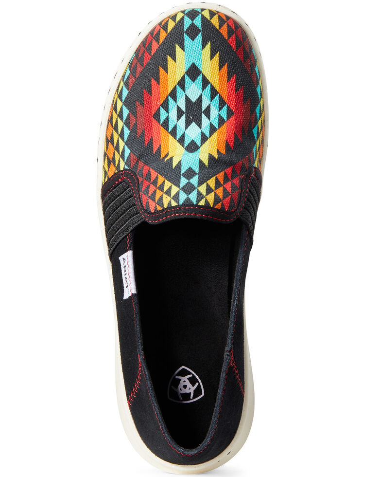 Ariat Women's Ryder Rainbow Aztec Slip-On Shoes, Multi, hi-res