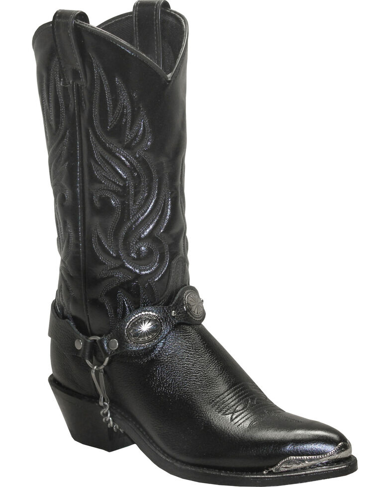 Sage by Abilene Boots Women's Concho Harness Boots, Black, hi-res