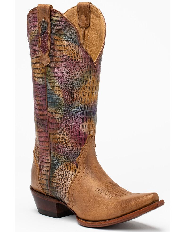 Shyanne Women's Roya Tan Western Boots - Snip Toe, Tan, hi-res