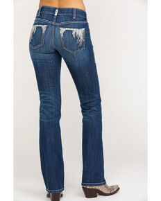 Ariat Women's R.E.A.L. Shimmer Boot Cut Jeans, Blue, hi-res
