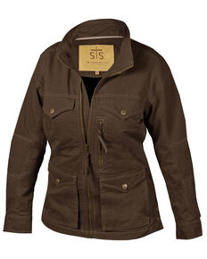 STS Ranchwear Women's Sundance Twill Jacket - Plus, Chocolate, hi-res