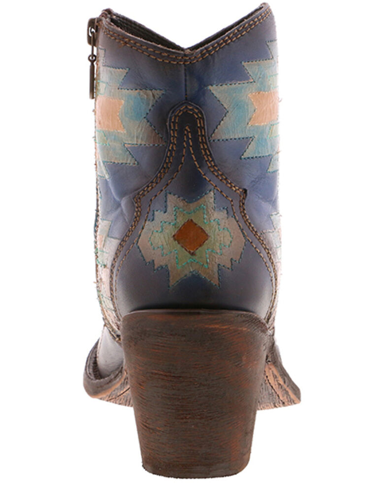 Liberty Black Women's Pollock Sky Fashion Booties - Round Toe, Blue, hi-res