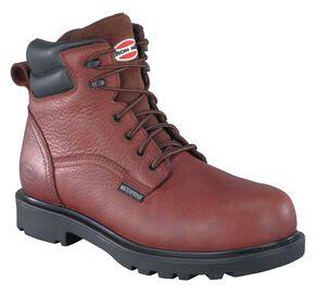 Iron Age Men's Hauler Composite Toe Waterproof Work Boots, Brown, hi-res