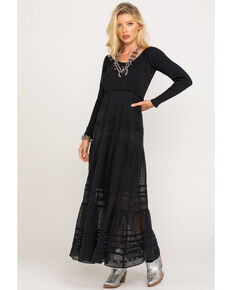 Free People Women's Earth Angel Maxi Dress, Black, hi-res