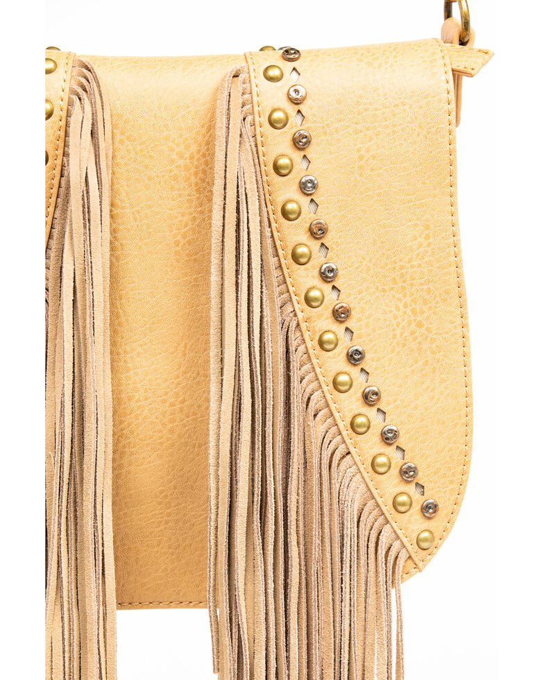 Shyanne Women's Fab Fringe Saddle Bag , Beige/khaki, hi-res