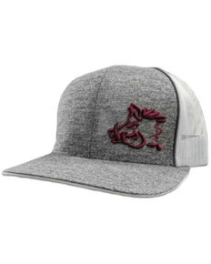 Oil Field Hats Men's Heather Graphic & White Sniper Pig Mesh-Back Ball Cap , Grey, hi-res