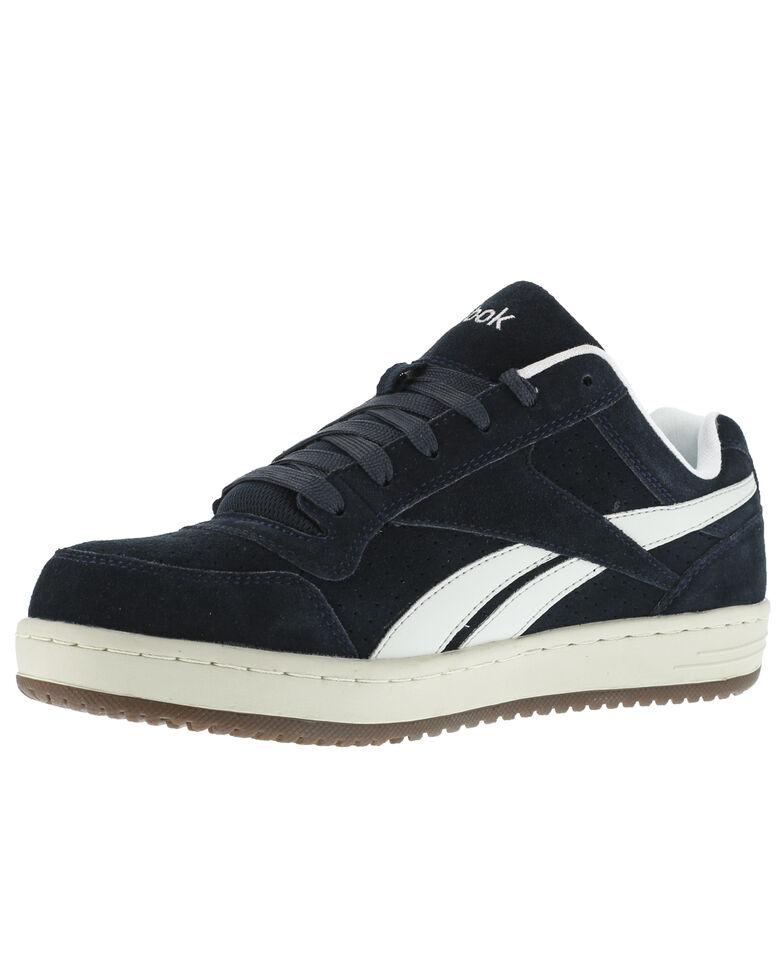 Reebok Men's Soyad Skateboard Work Shoes - Steel Toe, Blue, hi-res