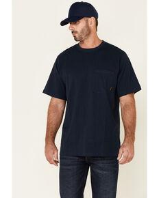 Hawx Men's Solid Navy Forge Short Sleeve Work Pocket T-Shirt - Big, Navy, hi-res