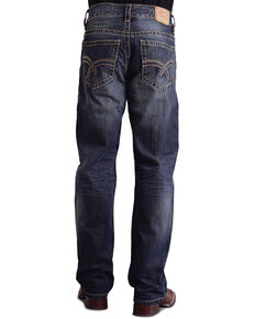 """Stetson Modern Fit Curved """"X"""" Stitched Jeans - Big & Tall, Med Wash, hi-res"""