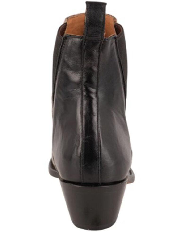Lucchese Women's Avie Exotic Eel Fashion Booties - Snip Toe, Black/white, hi-res