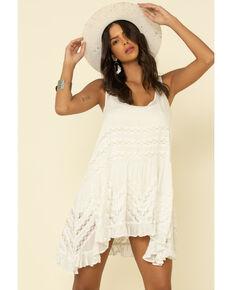 Free People Women's Slip Voile Trapeze Dress, White, hi-res