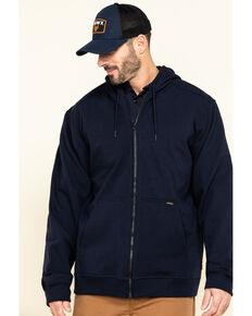 Hawx Men's FR Zip Up Fleece Work Hoodie - Tall , Navy, hi-res